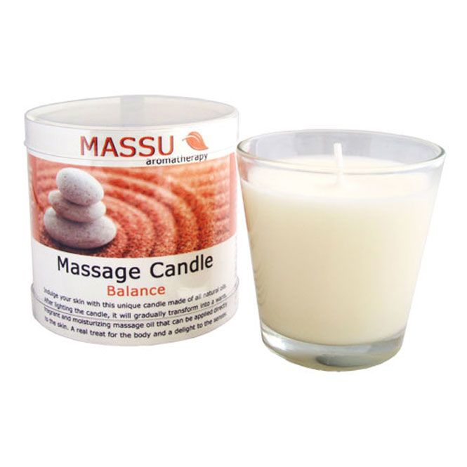 Massage candle in glass pot, 75 g