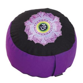 Meditation cushion RONDO BASIC with embroidery OM