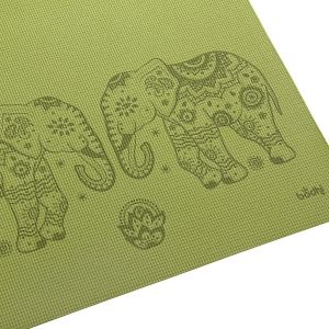 Design yoga mat ELEPHANT/MANDALA, The Leela Collection Elephant/Mandala, olive green